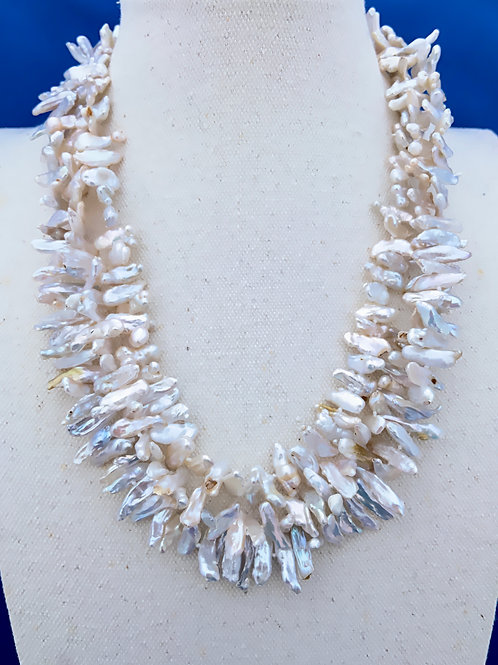 Lustrous Baroque Freshwater Pearl with Sterling Silver