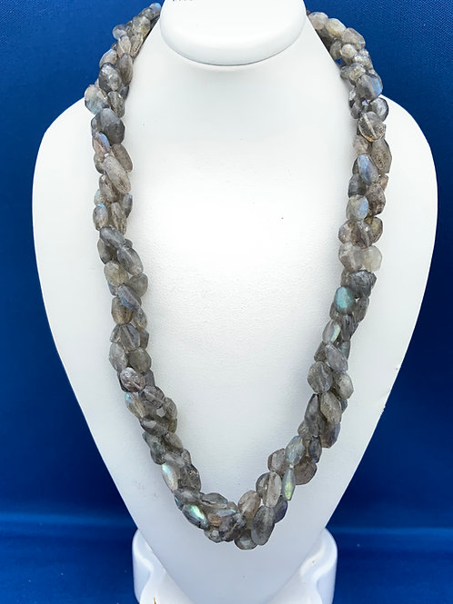 Faceted Labradorite Ovals with Sterling Silver