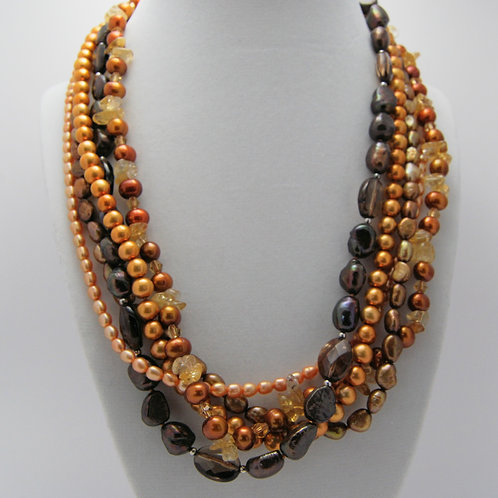 5-Strand Pearl Necklace