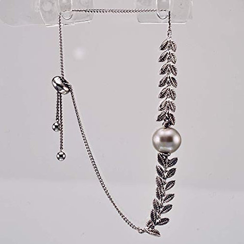 Sterling Silver vine and Pearl