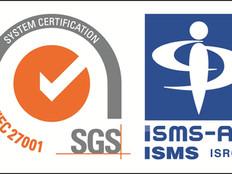 情報セキュリティマネジメントシステム(ISMS)認証を取得しました