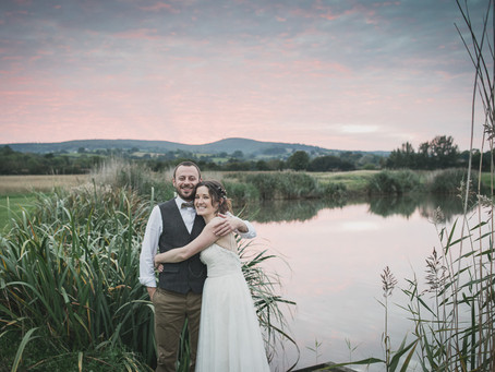 Quantock lakes wedding, Laura & Tim