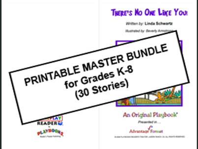 Printable Master Bundle Kit for Grades K-8 (30 Stories)
