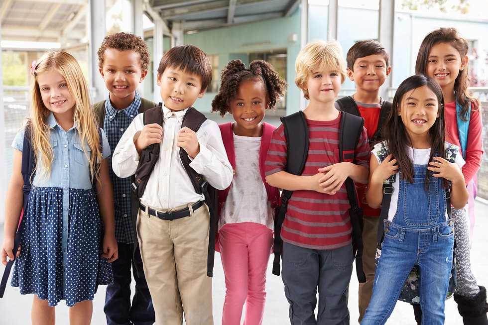 Group portrait of elementary school kids in school corridor.jpg