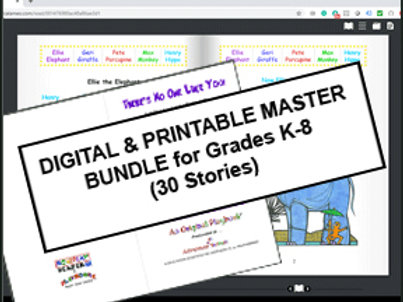 Digital & Printable Master Bundle Kit for Grades K-8 (30 Stories) - $450