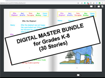 Digital Master Bundle Kit for Grades K-8 (30 Stories)