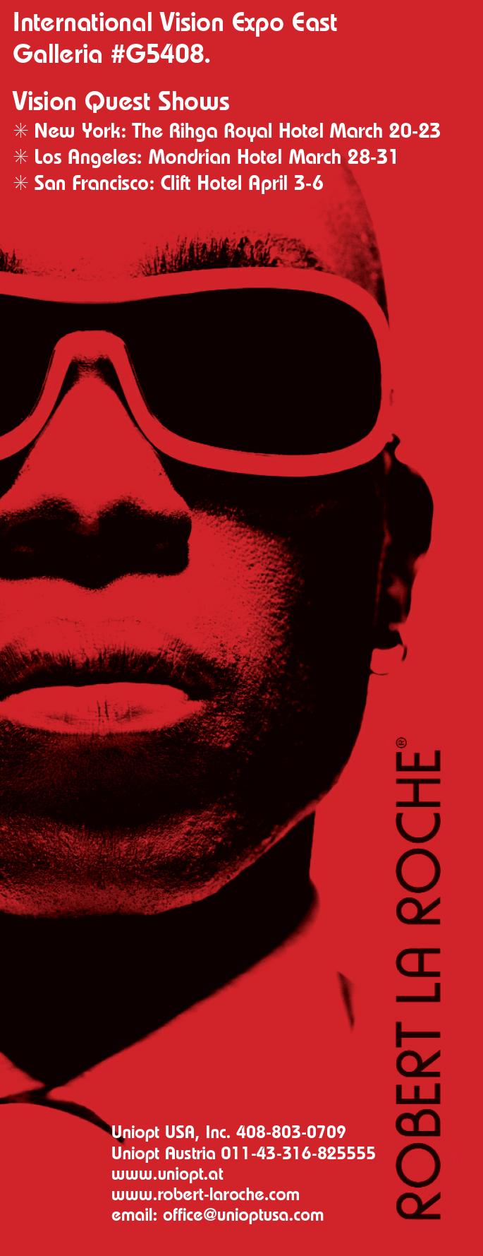 Robert la Roche Eyewear| Printed Ad