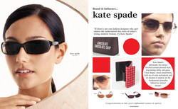 2-page Ad for Kate Spade Eywear