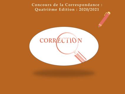 CONCOURS DE LA CORRESPONDANCE / SEMAINE 15