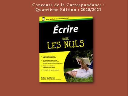 CONCOURS DE LA CORRESPONDANCE SEMAINE 13