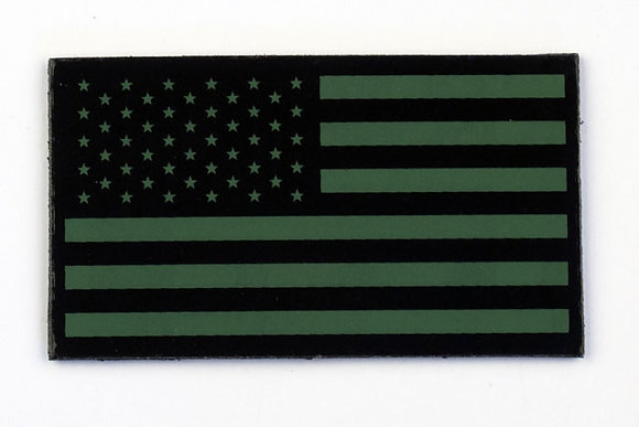 US OLIVE FLAG WITH STARS ON LEFT - AF-2000P