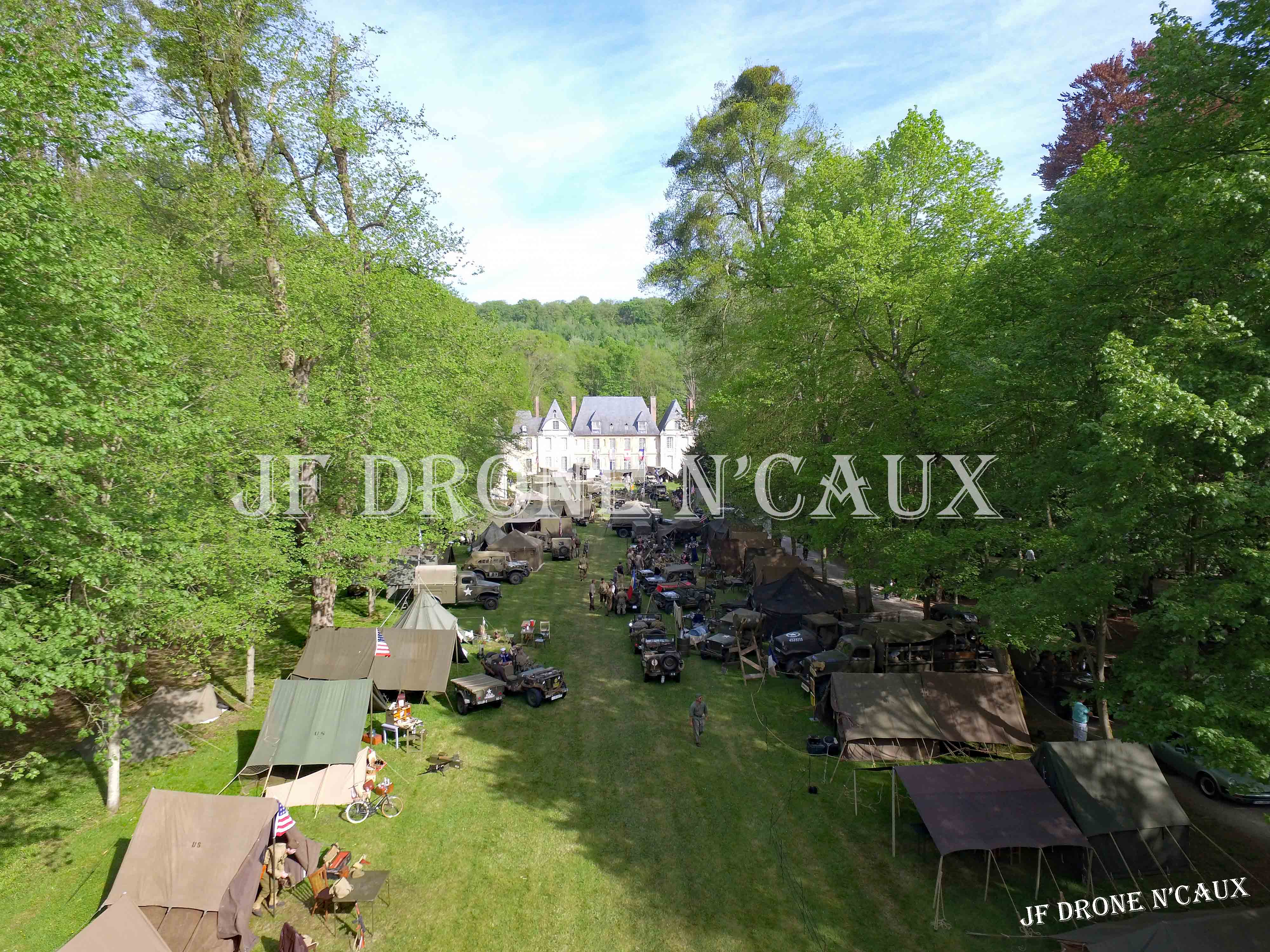 Commémorations du 8 mai 1945 au Chateau Du Taillis à Duclair DJI_0153