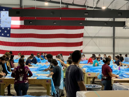 Bloomberg - U.S. Buying Hospital Gowns From Manufacturers for Covid Needs