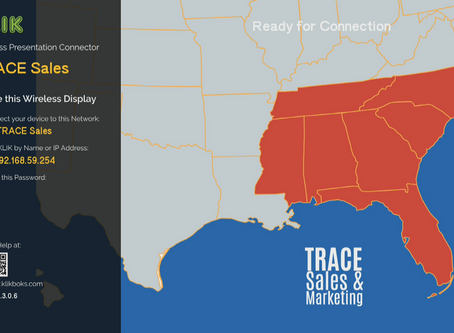 KLIK Appoints Trace Sales & Marketing as exclusive Sales & Marketing representatives to Southeast US