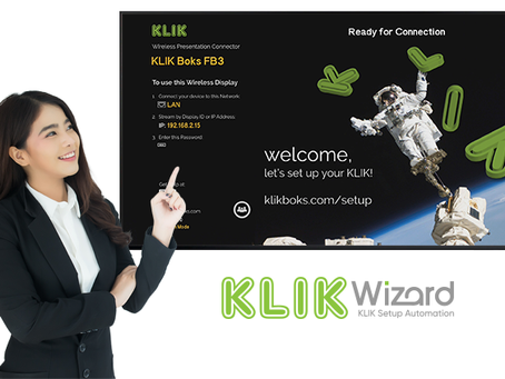 Leave Setup to the Wizard. KLIKWizard, that is.