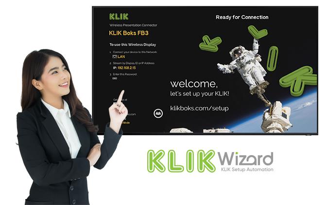KLIKWizard Guides you through KLIK setup with an interactive application.