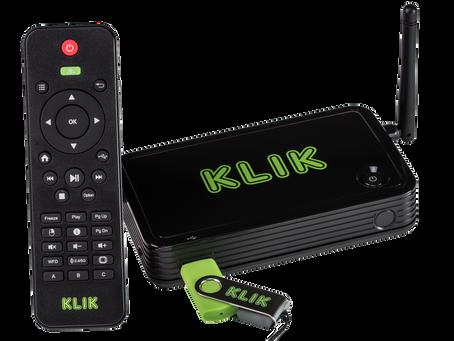 The best value in wireless screen sharing is... KLIK Boks PLUS!