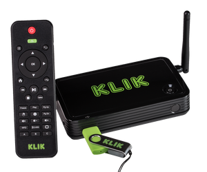 KLIK Boks PLUS is a full-featured wireless screen sharing system that work with all devices.