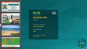 KLIK Boks HUB lets you see all of your connected users' screens as thumbnails.