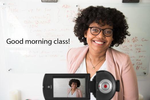 Good-Morning-Class-Female-Teacher-Camcor