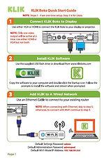KLIK Boks Quick Start Guide