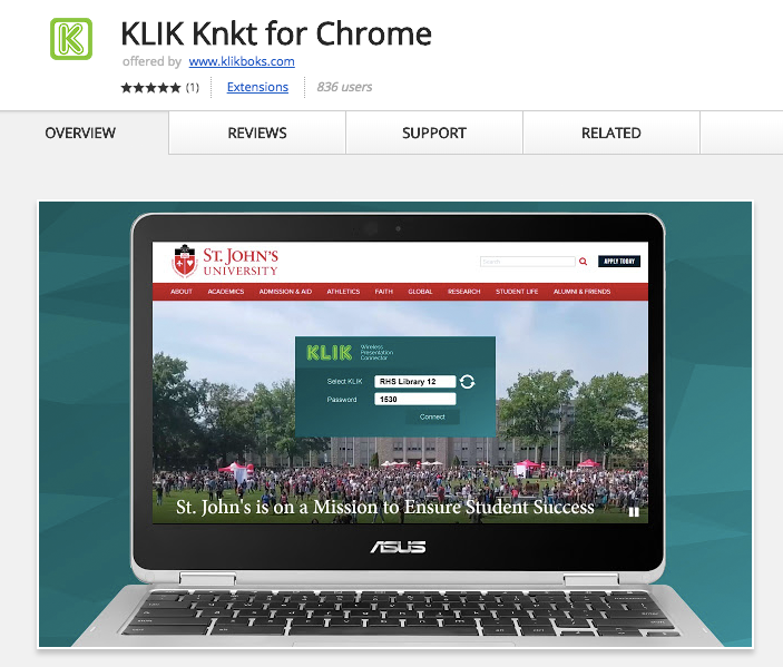 Get KLIK for Chrome on the Web Store