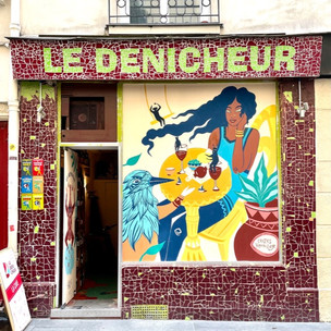 10 façades de restaurants parisiens touchés par la crise ré habillées par des street artistes