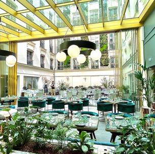 Le rooftop et le restaurant du nouvel Hôtel Kimpton St Honoré Paris