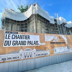 Une bande dessinée autour du chantier du Grand Palais à Paris