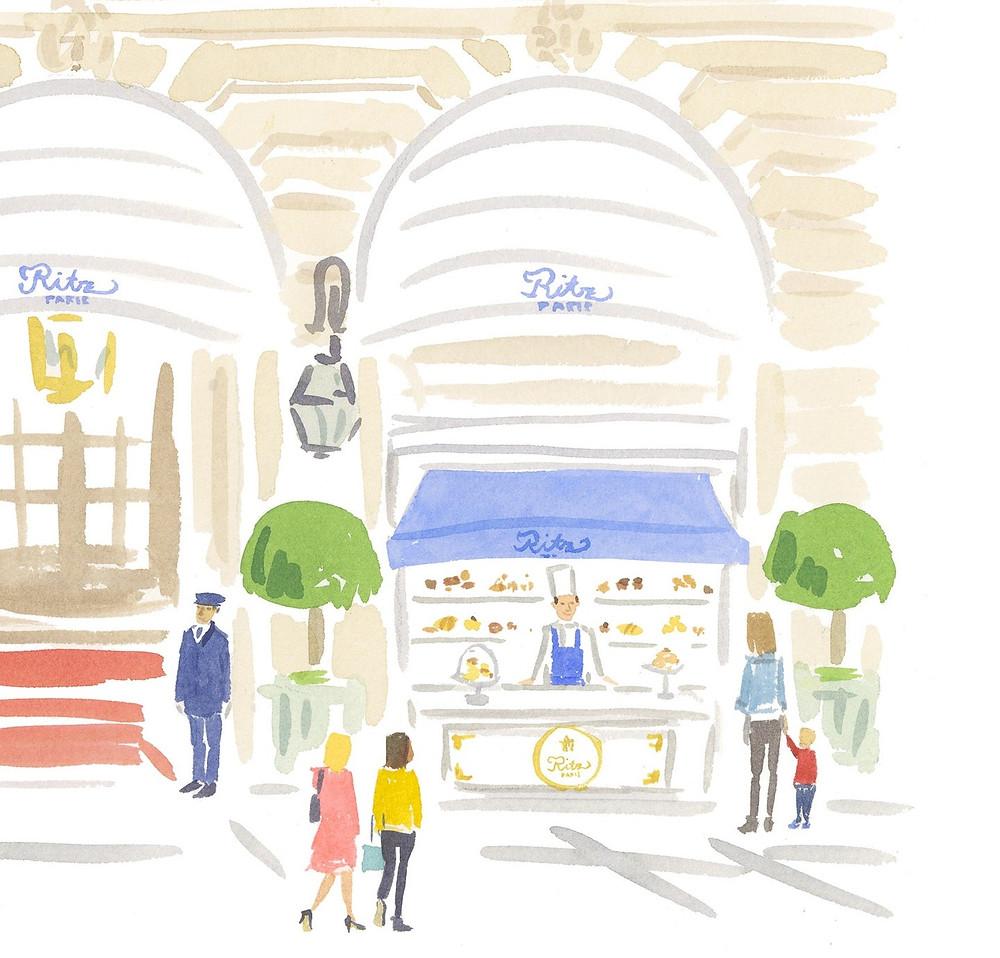 Le comptoir à pâtisseries du Ritz