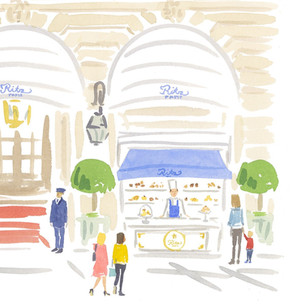 François Perret présente Le comptoir à pâtisseries du Ritz sur la place Vendôme