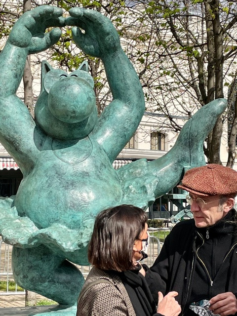 Exposition Le Chat Geluck Champs Elysees Paris