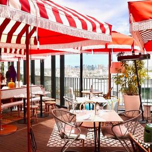 Rooftop Mama Shelter Paris West : restaurant en toit terrasse avec vue panoramique