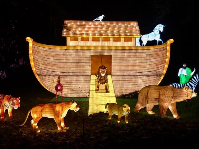 Festival Thoiry lumières sauvages Noé