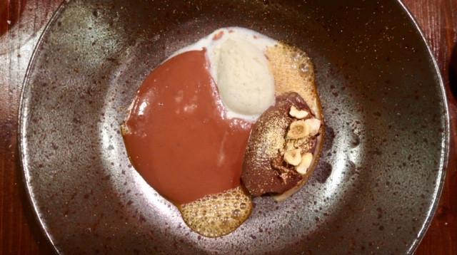 crème au chocolat noir écume manjari - L'Escient