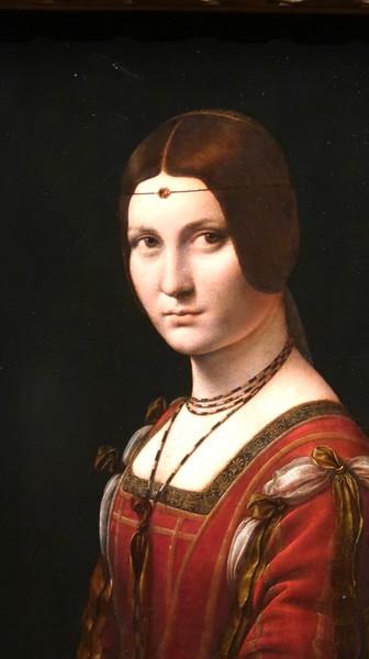Léonard de Vinci, Portrait d'une dame de la cour de Milan, dit à tort La Belle Ferronnière © RMN-Grand Palais