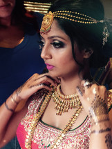 Hair and Makeup for an Indian Bride