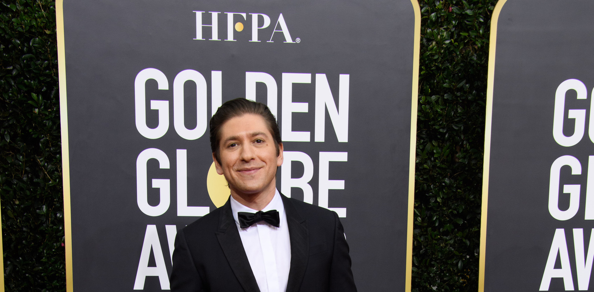Michael Zegenna passadeira vermelha do 77th Annual Golden Globe Awards, no Beverly Hilton em Beverly Hills, CA. Fotografia: HFPA Photographer.