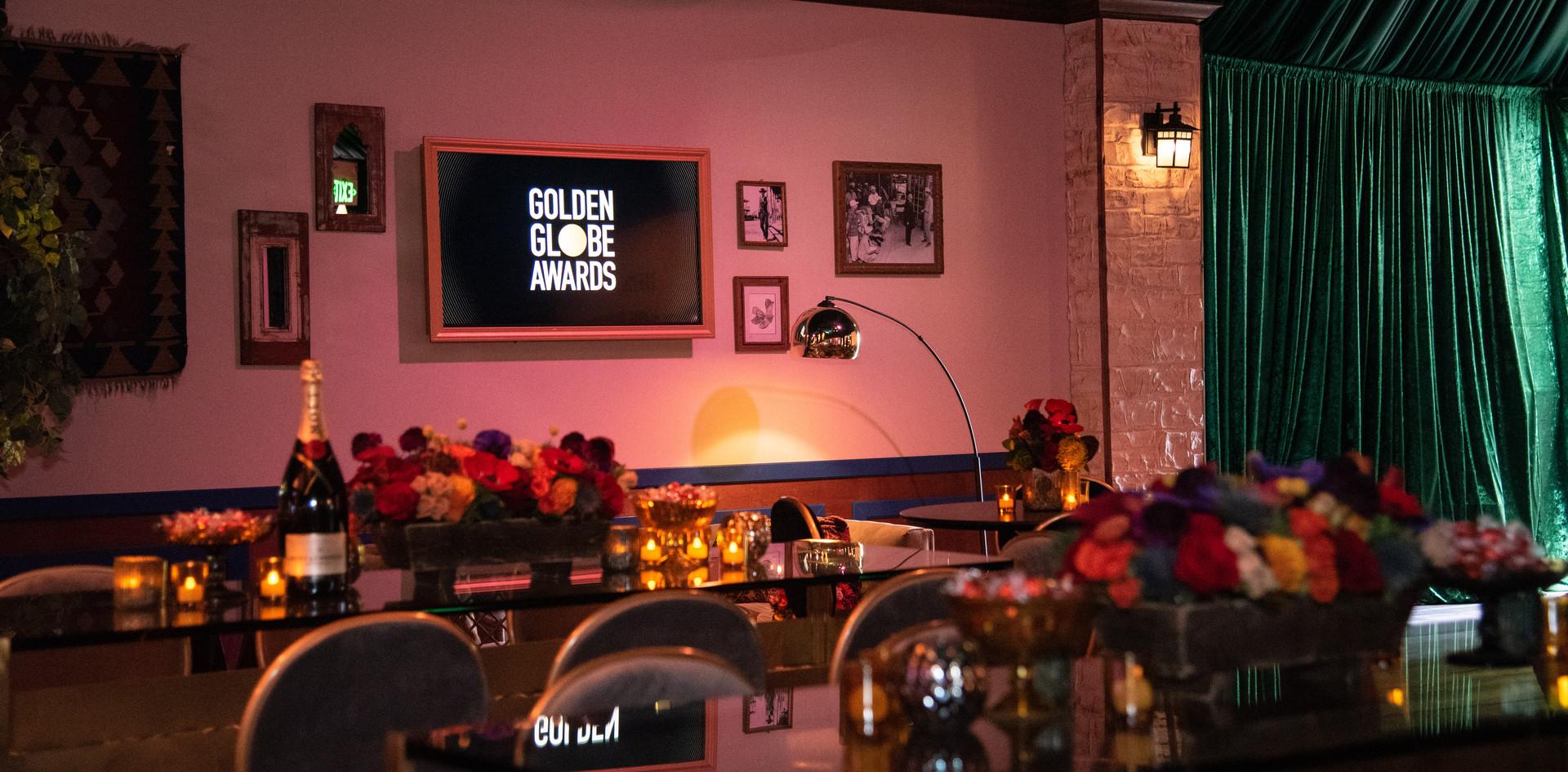 Pormenor da Sala do After Party Media (Festa depois da Entrega dos Golden Globes) do 77th Annual Golden Globes Awards no Beverly Hilton em Beverly Hills, CA. Photographer: HFPA Photographer.