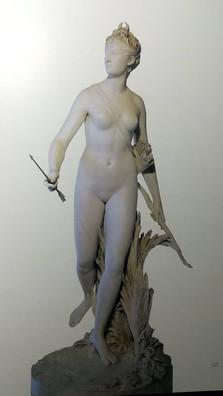 Jean-Antoine Houdon. (1741-1828). Diana, França. 1780. Mármore.