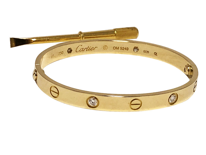 Cartier pulseira Love 2 pecas.jpg