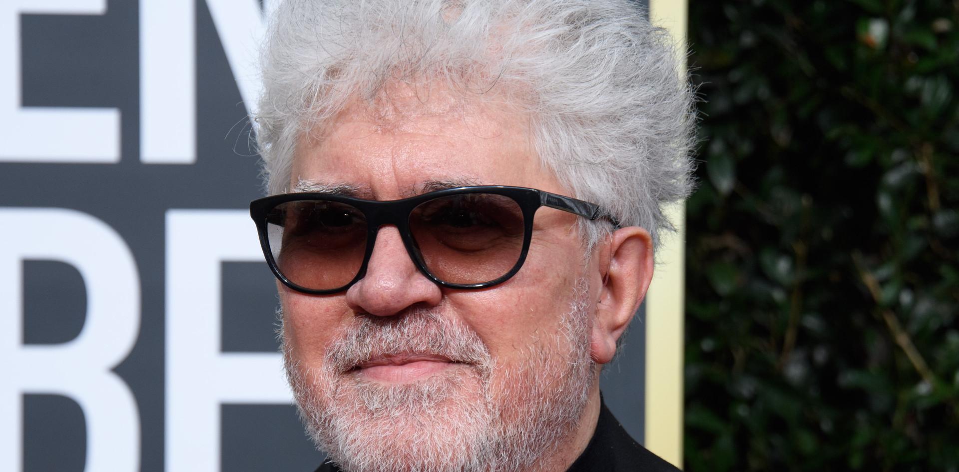 """Pedro Almodóvar foi nomeado para um Golden Globe, com o Filme:"""" Pain and Glory"""", como Melhor Filme Estrangeiro, na passadeira vermelha do 77th Annual Golden Globe Awards, no Beverly Hilton em Beverly Hills, CA. Fotografia: HFPA Photographer."""