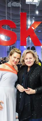 Magdalena Plonka, diretora da Escola de Design de Moda MSKPU e Theresa Lobo Professora do IADE-EU no 13th Anniversary Diploma Show, em Varsóvia