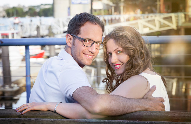 Newly engaged couple