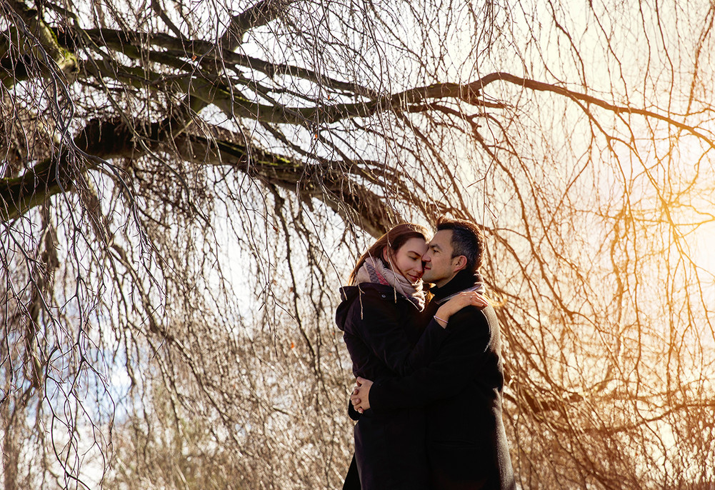 Early spring surprise engagement session