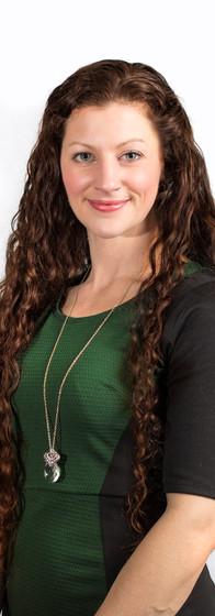 Caucasian woman headshot for a corporate website