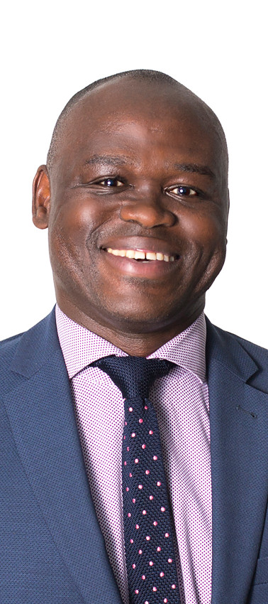 Headshot of a black male