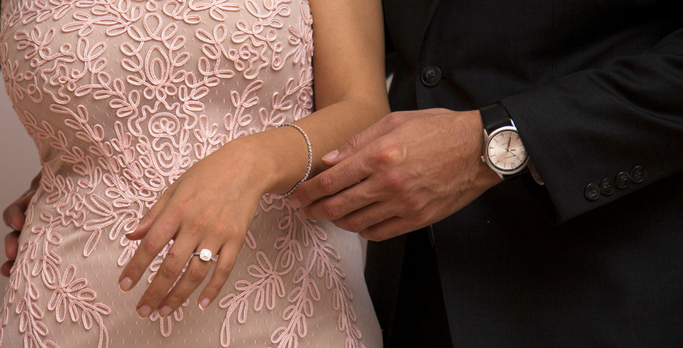 Engagement Photo with a ring