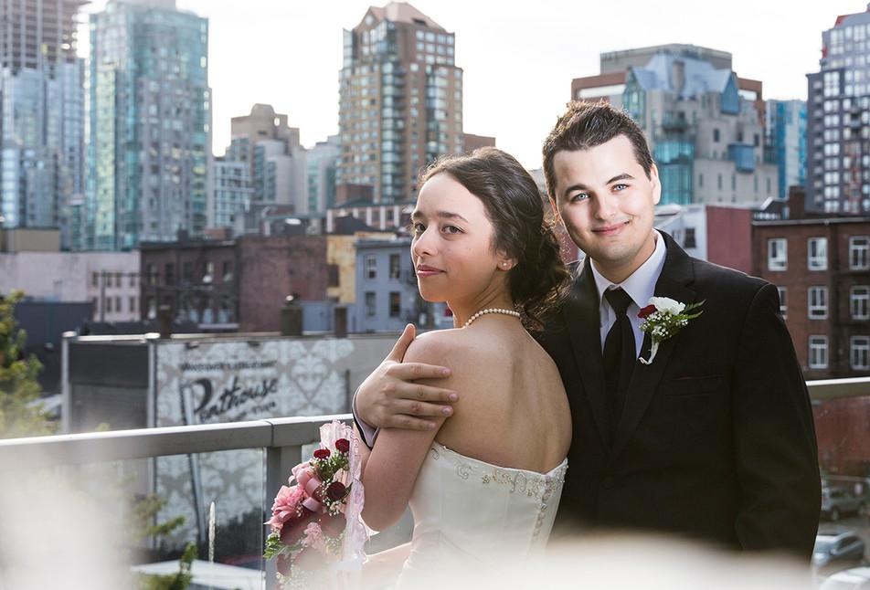 Small city wedding
