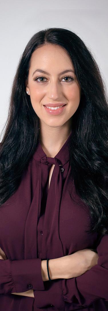 Social medial profile female headshot